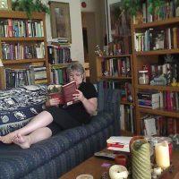 Diana reading